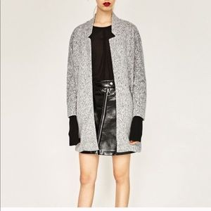 Zara Gray Marl Midi Light Coat